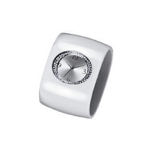 Photo of F&F Signature White Perspex Stone Detail Cuff Watch Watches Woman