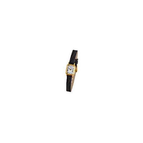 Pulsar ladies black strap watch