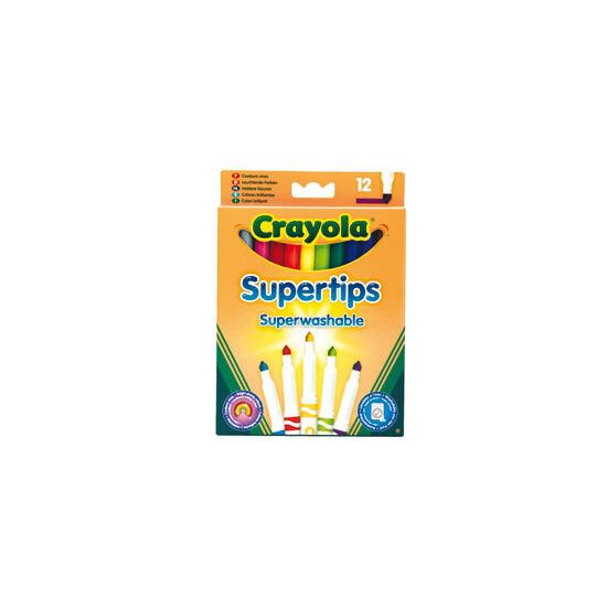 Crayola - 12 Bright Supertips