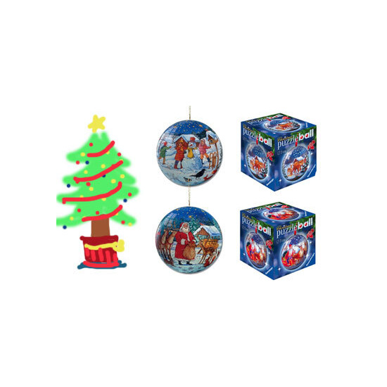 Mini Puzzleball - Christmas