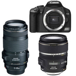 Canon EOS 450D with 18-55mm and 70-300mm lenses Reviews