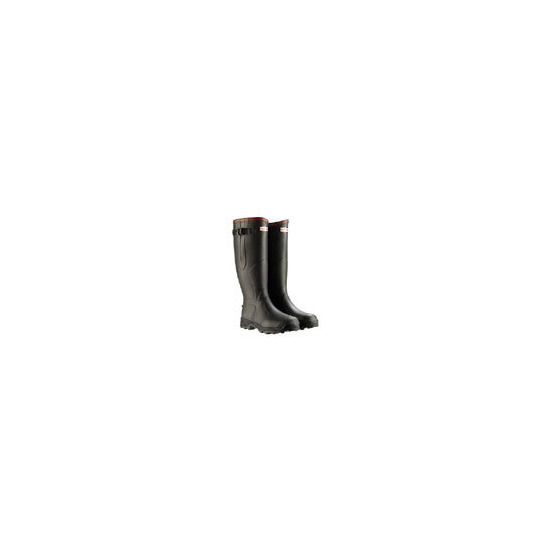 Hunter Balmoral Wellies - Bamboo Carbon in Dark Olive - Select Size