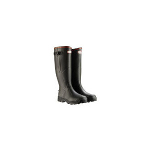 Photo of Hunter Balmoral Neoprene Wellies In Dark Olive - Select Size Shoes Man