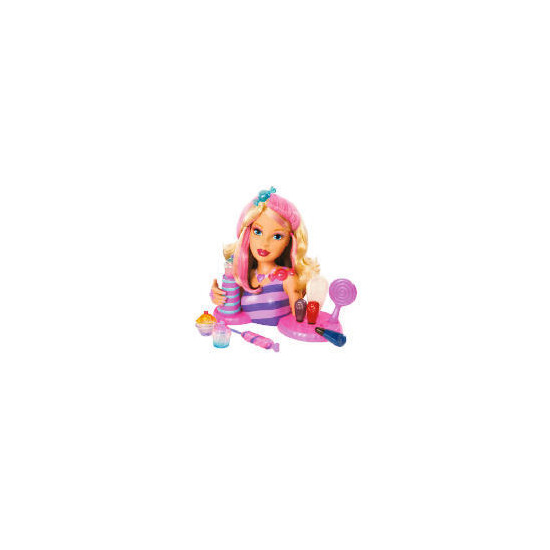 Barbie Candy Glam Styling Head & Lipgloss