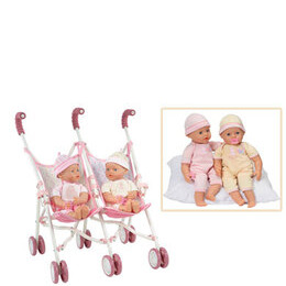 My Little Baby Interactive Twins with Double Stroller Reviews