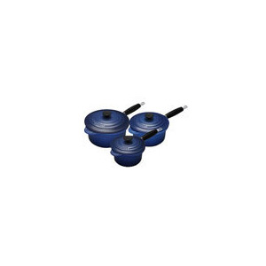 Photo of Le Creuset Graded Blue 3 Piece Cast Iron Saucepan Set Cookware