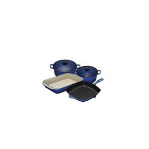 Photo of Le Creuset Graded Blue 4 Piece Cast Iron Pan Set Kitchen Accessory