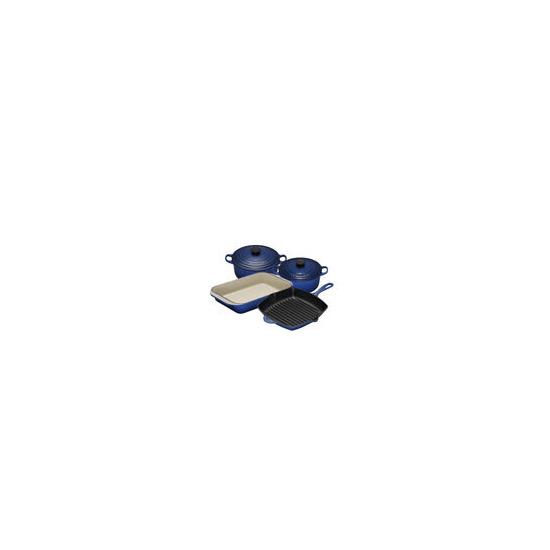 Le Creuset Graded Blue 4 Piece Cast Iron Pan Set