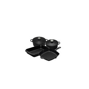 Photo of Le Creuset Satin Black 4 Piece Cast Iron Pan Set Cookware