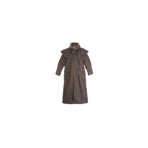 Photo of Driza-Bone Lightweight Oilskin Full Length Riding Coat In Brown Tops Man