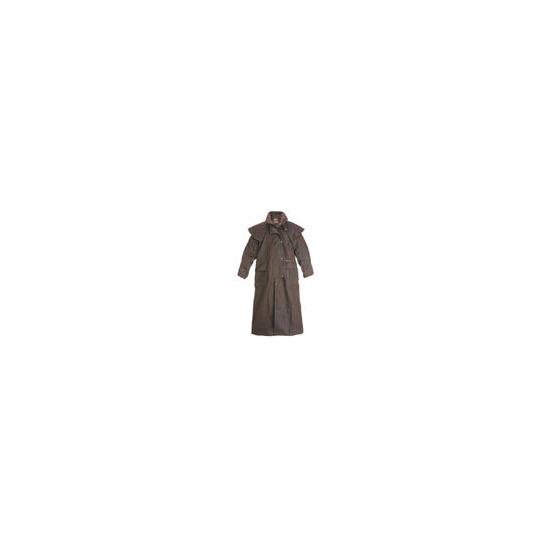 Driza-Bone Lightweight Oilskin Full Length Riding Coat in Brown