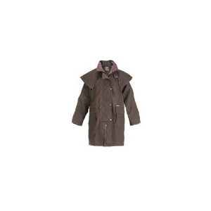 Photo of Driza-Bone Lightweight Oilskin 3/4 Length Riding Coat In Brown Tops Man