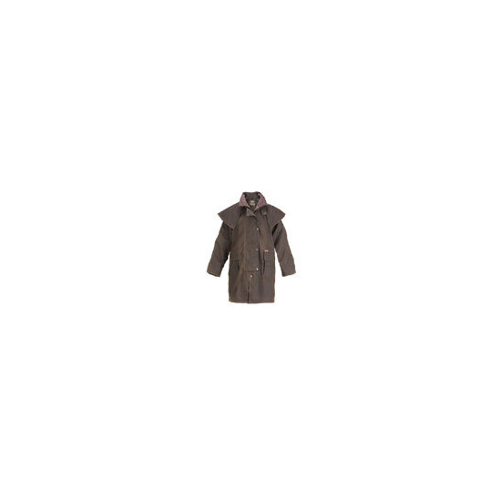 Driza-Bone Lightweight Oilskin 3/4 Length Riding Coat in Brown