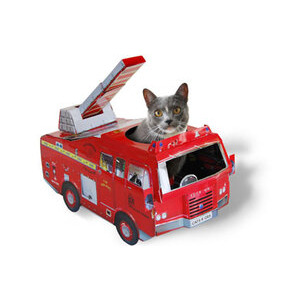Photo of Cardboard Classics Cat Playhouse Fire Engine Gadget