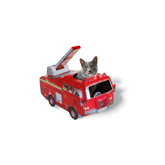 Cardboard Classics Cat Playhouse Fire Engine