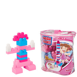 Mega Bloks Large Maxi Bag - Pink Colours Reviews