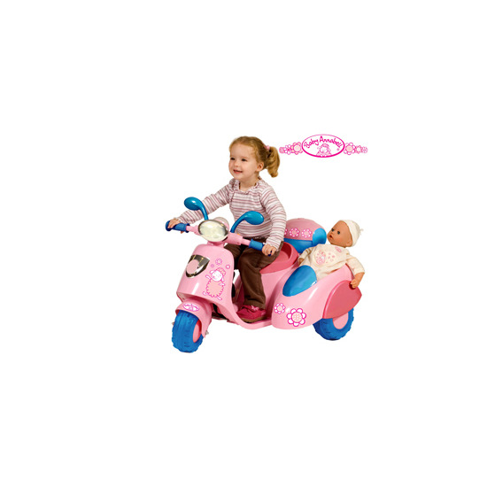 Baby Annabell Battery Operated Scooter with Side Car