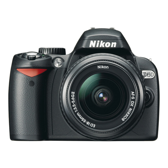 Nikon D60 with 18-55mm and 55-200mm lens