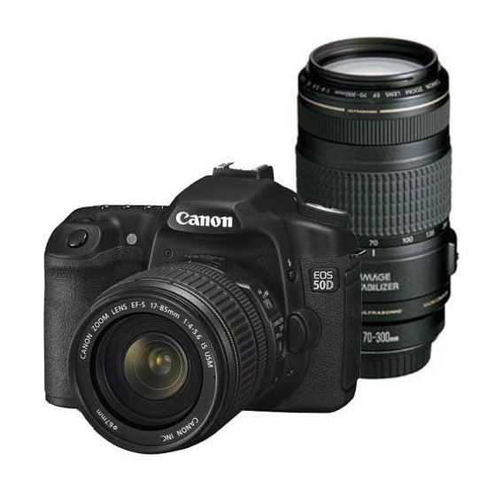 Canon EOS 50D with 17-85mm and 70-300mm IS lenses