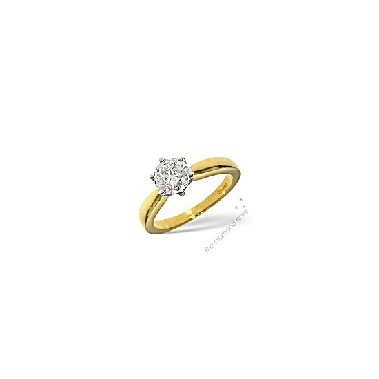 1.50CT Solitaire Ring in 18K Gold