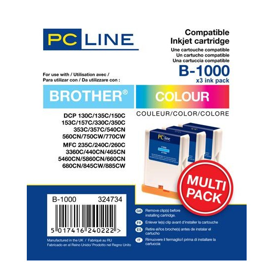PC Line Brother LC1000 Inkjet Cartridges