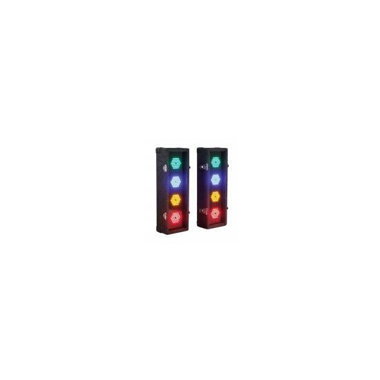 Soundlab Professional 2 x 4 Way LED Light Box With Multi Pattern Control