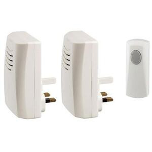 Photo of Friedland Doorman Wireless Plug-In 'Twin' Door Bell Chime Kit Home Miscellaneou