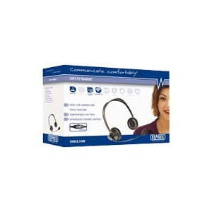 Photo of Sweex Soft Fit Headset - Headset ( Ear-Cup ) Headset
