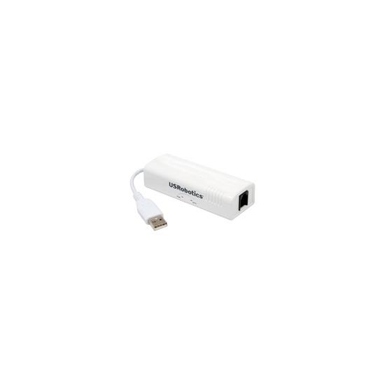 US Robotics 56K USB Faxmodem USR5637 - Fax / modem - external - USB - 56 Kbps - V.90, V.92
