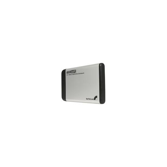 "StarTech.com InfoSafe 2.5"" USB 2.0 SATA Drive Enclosure - Storage enclosure - SATA-300 - Hi-Speed USB - silver"