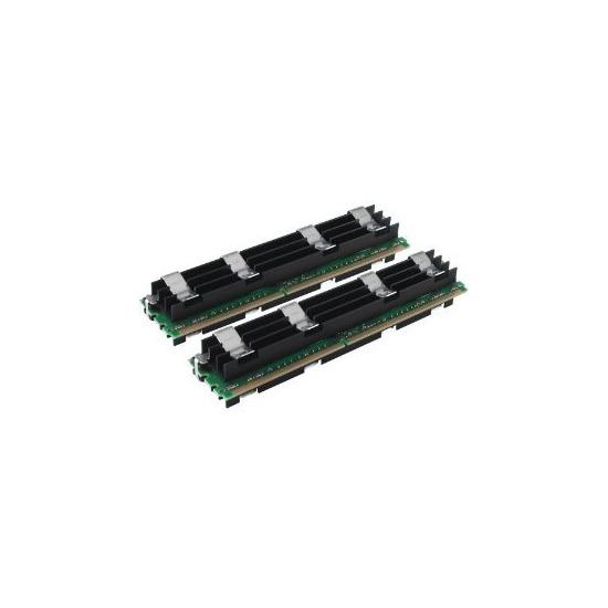 Crucial - Memory - 4 GB ( 2 x 2 GB ) - FB-DIMM 240-pin - DDR2 - 800 MHz / PC2-6400 - CL5 - Fully Buffered - ECC