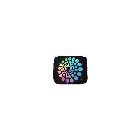 "Targus Notebook Skin - Notebook sleeve - 15.4"" - spectrum circles"