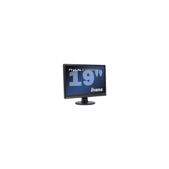 "Iiyama Pro Lite E1908WSV-1 - Flat panel display - TFT - 19"" - widescreen - 1680 x 1050 - 300 cd/m2 - 1000:1 - 5000:1 (dynamic) - 5 ms - 0.243 mm - VGA - speakers - black"