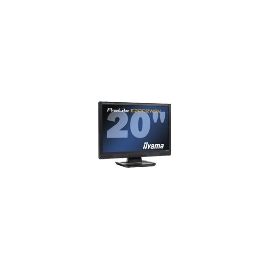 "Iiyama Pro Lite E2002WSV-1 - Flat panel display - TFT - 20"" - widescreen - 1680 x 1050 - 300 cd/m2 - 1000:1 - 5000:1 (dynamic) - 5 ms - 0.258 mm - VGA - speakers - black"