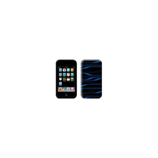 Belkin Two-Tone Silicone Sleeve black, blue iPod touch (2G)