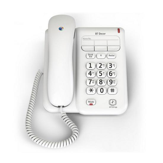 BT Decor 2100 Wired Telephone