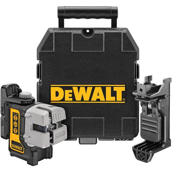 Dewalt DW089K 3 WAY SELF-LEVELLING MULTI LINE LASER (HORIZONTAL, VERTICAL AND SIDE LINES)
