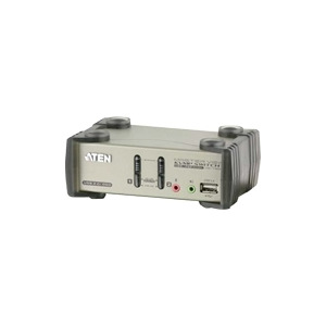 Photo of ATEN MasterView CS1732B KVMP Switch - KVM / Audio / USB Switch - 2 Ports - 1 Local User Adaptors and Cable
