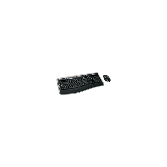 Microsoft Wireless Laser Desktop 7000 - Keyboard - wireless - USB - 105 keys - ergonomic - mouse - USB wireless receiver - English - United Kingdom