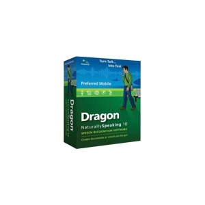 Photo of Dragon NaturallySpeaking Preferred Mobile  W/Recorder - ( V. 10 ) - W/ Noise-Cancelling Headset Microphone - Complete Package - 1 User - DVD - Win - English Software