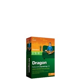 Dragon NaturallySpeaking Standard - ( v. 10 ) - w/ noise-cancelling headset microphone - complete package - 1 user - DVD - Win - English Reviews