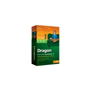 Photo of Dragon NaturallySpeaking Standard - ( V. 10 ) - W/ Noise-Cancelling Headset Microphone - Complete Package - 1 User - DVD - Win - English Software