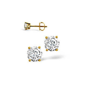 Photo of H/I Colour Stud Earrings 0.40CT Diamond 18KY Jewellery Woman