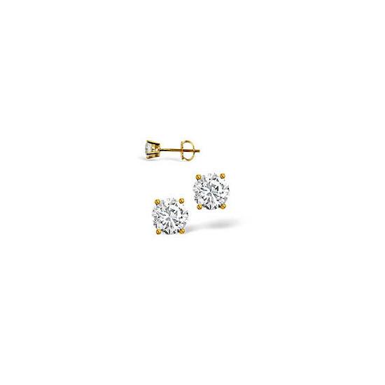 H/I Colour Stud Earrings 0.40CT Diamond 18KY