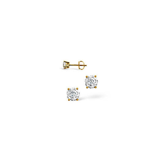 H/I Colour Stud Earrings 0.20CT Diamond 18KY