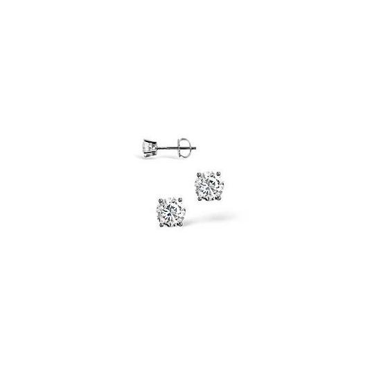 H/I Colour Stud Earrings 0.20CT Diamond 18KW