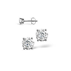 Photo of g-H/Si Stud Earrings 0.40CT Diamond 18KW Jewellery Woman