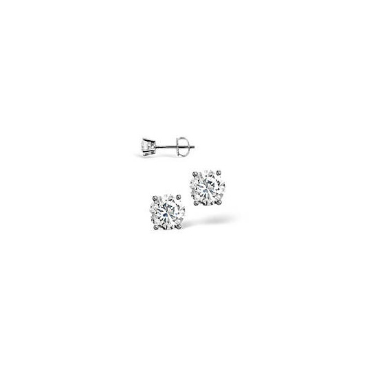 G-H/Si Stud Earrings 0.40CT Diamond 18KW