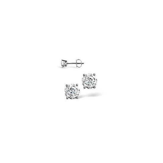 H/I Colour Stud Earrings 0.40CT Diamond 18KW