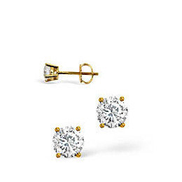 G-H/Si Stud Earrings 0.30CT Diamond 18KY Reviews